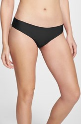 Women's Halogen 'No Show' Thong Black