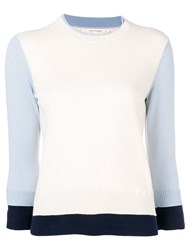 Chinti And Parker Colour Block Knitted Sweater Neutrals
