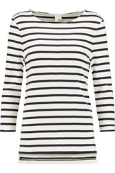Iris And Ink Madeline Breton Striped Stretch Cotton Top