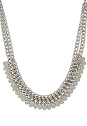 S.Oliver Necklace Silvercoloured Grey
