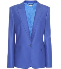 Stella Mccartney Ingrid Wool Blazer Blue
