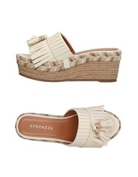 Apepazza Sandals Ivory