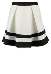 Lipsy Ariana Grande For Lipsy Pleated Skirt Monochrome White