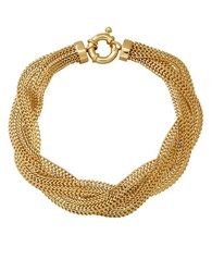 Lord And Taylor 14K Yellow Gold Braided Mesh Bracelet
