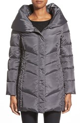 Women's Hawke And Co. Pillow Collar Chevron Quilted Down Coat