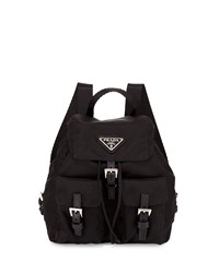 Prada Vela Nylon Crossbody Backpack Black Nero