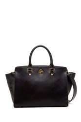 Segolene En Cuir Sylvie Genuine Leather Handbag Black