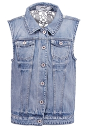 Only Onlchris Waistcoat Medium Blue Denim