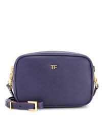 Tom Ford Leather Cross Body Bag Purple