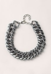 Missguided Matte Chunky Chain Necklace Silver