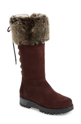 Bos. And Co. Graham Waterproof Winter Boot With Faux Fur Cuff Wine Suede