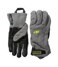 Outdoor Research Lodestar Sensor Gloves Pewter Extreme Cold Weather Gloves