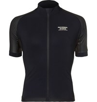 Pas Normal Studios Essential Perforated Zip Up Cycling Jersey Black