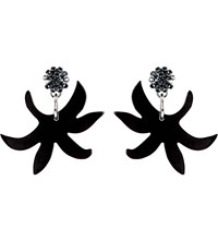 Marni Horn Earrings Black