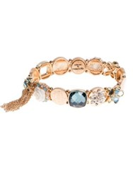 Lonna And Lilly Tassel Accented Stretch Bracelet Blue