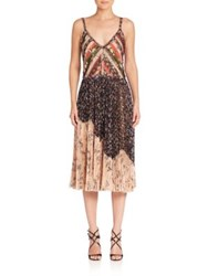 Jason Wu Printed Chiffon Cocktail Dress Black Multi