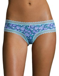 Betsey Johnson Cotton Blend Lace Hipsters Best Bud Blue