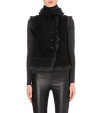 Joseph Toscana New Lucy Shearling Gilet 429 Forest