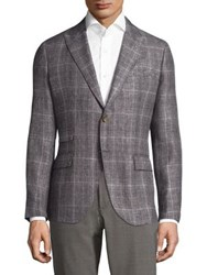 Eleventy Platinum Tailored Fit Linen Wool And Silk Sportcoat Light Grey