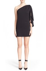 Women's Milly 'Olivia' Stretch Silk Butterfly Sleeve Dress