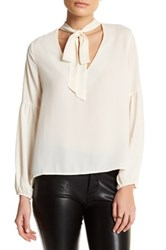 Blvd Self Tie Blouse Beige