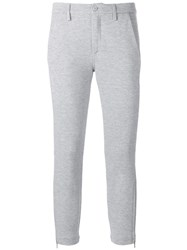 Dondup Skinny Cropped Trousers Grey