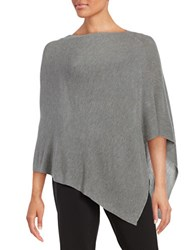 Eileen Fisher Ribbed Knit Poncho Pewter