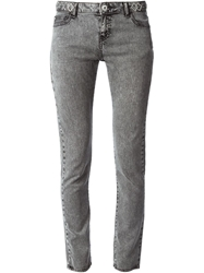 Each X Other Embellished Waistband Skinny Jeans Grey
