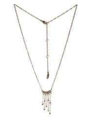 Bcbgeneration Wire Work Fringed Pendant Necklace Gold