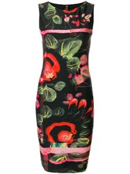 Jean Paul Gaultier Vintage Printed Fitted Dress Multicolour