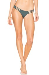 Bettinis Strappy Cheeky Bottom Dark Green
