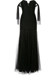 Alice Mccall Good Vibes Strapless Gown Black