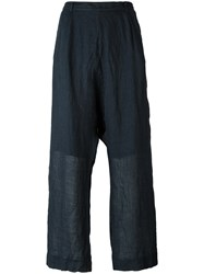Kristensen Du Nord Wide Leg Trousers Blue