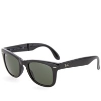 Ray Ban Ray Ban Wayfarer Folding Sunglasses Black And Green