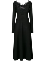 D.Exterior Lace Trim Dress Black
