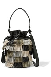 Loeffler Randall Industry Fringed Leather Shoulder Bag Multi