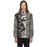 Givenchy Black Patchwork Effect Shirt