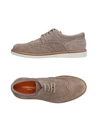 Lumberjack Lace Up Shoes Beige