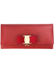 Salvatore Ferragamo 'Vara' Bow Wallet Red