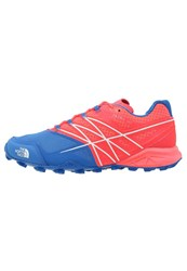 The North Face Ultra Mt Trail Running Shoes Rocket Red Blue Quartz Coral