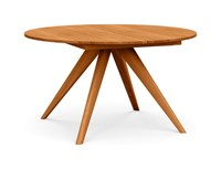 Copeland Furniture Catalina Round Extension Table Natural Cherry 48 Inch Brown