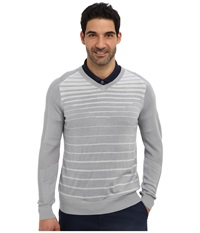 Nike 3D V Neck Sweater Wolf Grey Neutral Grey Metallic Silver Men's Long Sleeve Pullover Gray