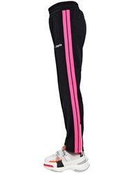 Palm Angels Printed Tech Jersey Track Pants Black Fluo Pink