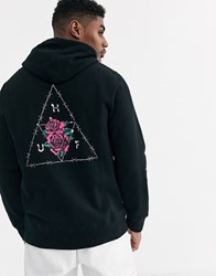 Huf Dystopia Hoodie With Back Print In Black