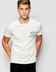 Jack And Jones Jack And Jones Classic Track And Field Crew Neck T Shirt White