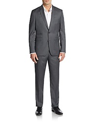 Vince Camuto Slim Fit Wool Suit Charcoal