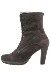 Kmb Fin Laceup Boots Ebano Vison Taupe