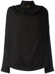 Vivienne Westwood Anglomania Draped Detail Shirt Black