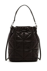 Milly Avery Convertible Leather Backpack Black