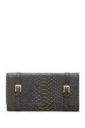 Urban Expressions Michelle Embossed Faux Leather Wallet Black